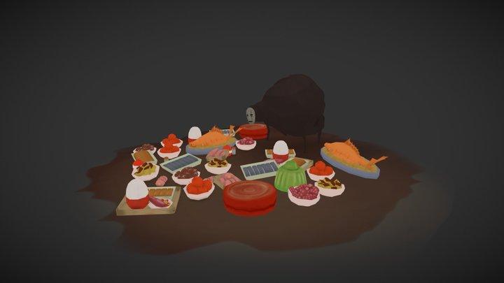 Spirited Away Food 3D Model