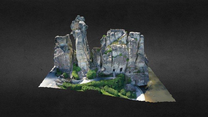 Externsteine Teutoburger Wald 3D Model