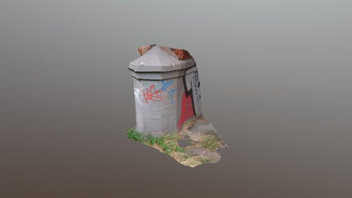 Graffiti wall - Lady Bay, Nottingham 3D Model