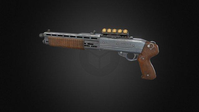 Automatic Shotgun 3D Model