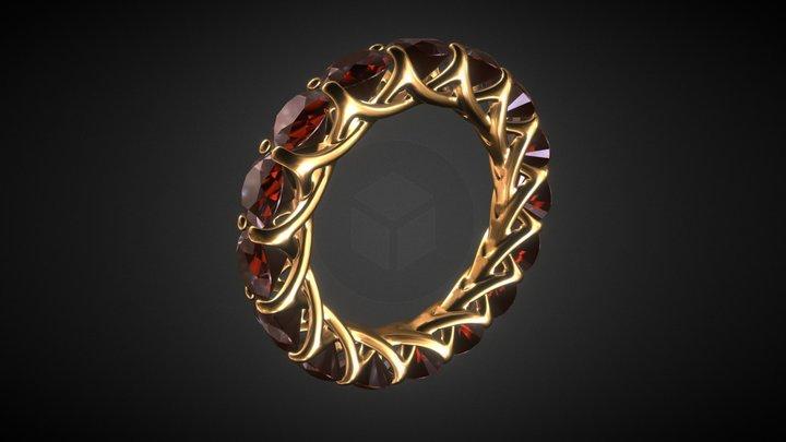 Ring 00D: 16 Gems 3D Model