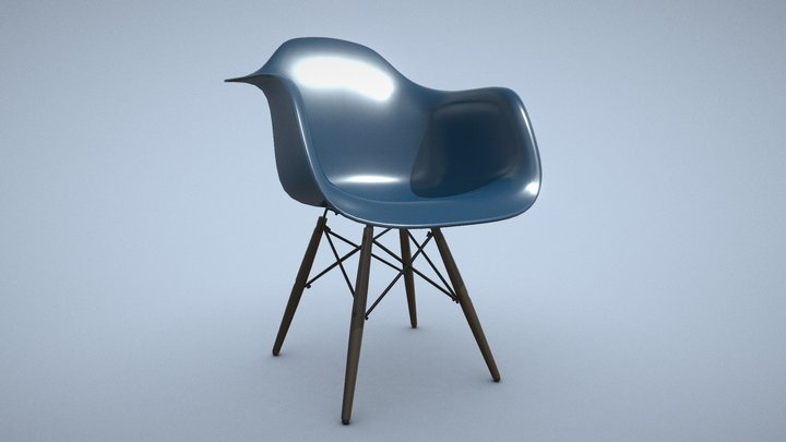 Eames Plastic Armchair DAW - 9 colors (AR ready) 3D Model