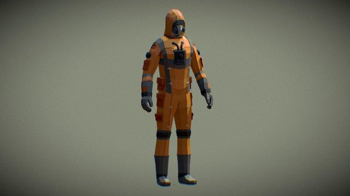 Hazmat Suit - Low Poly Style 3D Model