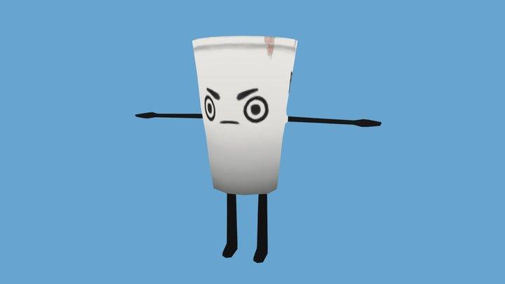 Single Use Cup - Envirovaders 3D Model