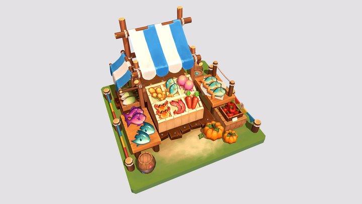 Fish Market 🐟 3D Model