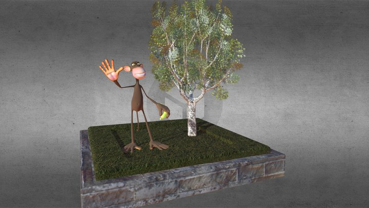 Caco the monkey 3D Model