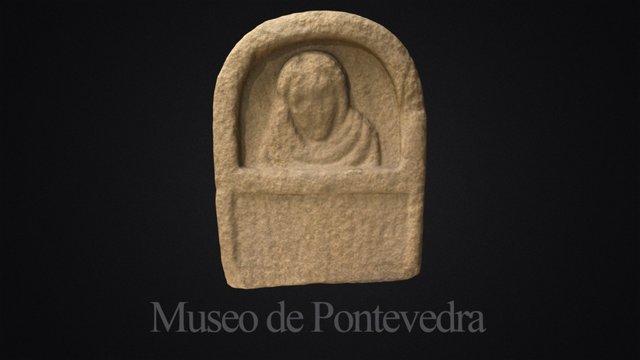 Fragmento dunha estela funeraria de Sobreira 3D Model