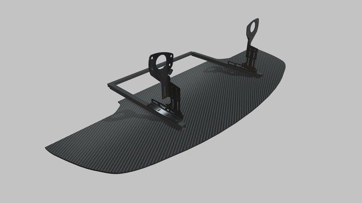 E46 Splitter & Brackets 3D Model