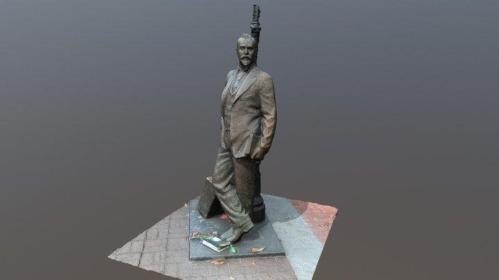 The statue of Aleko Konstantinov 3D Model