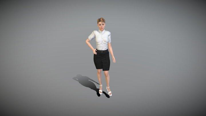 Mira Female Character Red Hair Business Dress 3D Model
