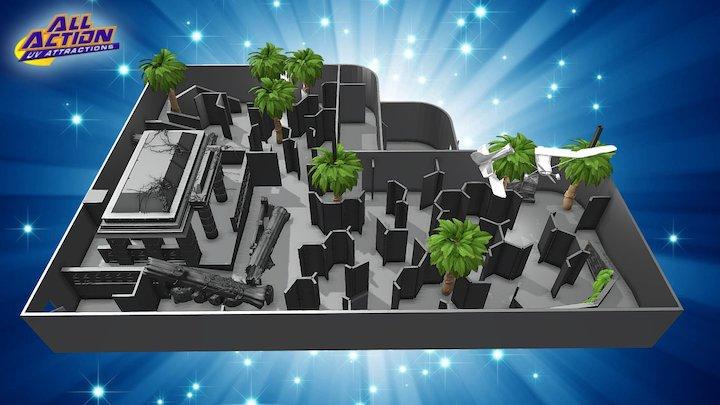 Sample Laser Tag Arena 3D Model