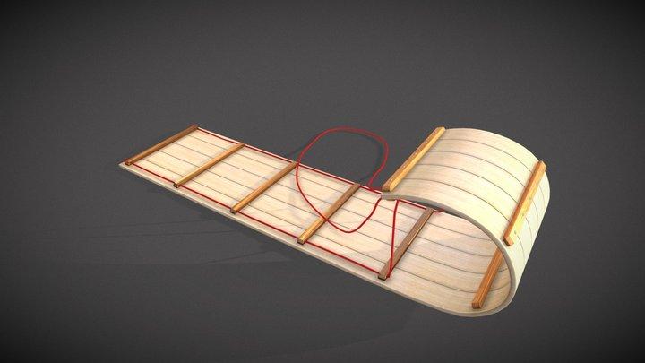 #3December - Sledding 3D Model