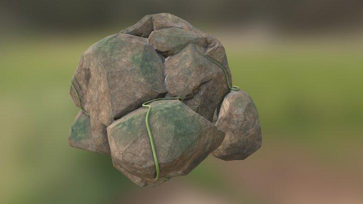 Forest Boulder 3D Model