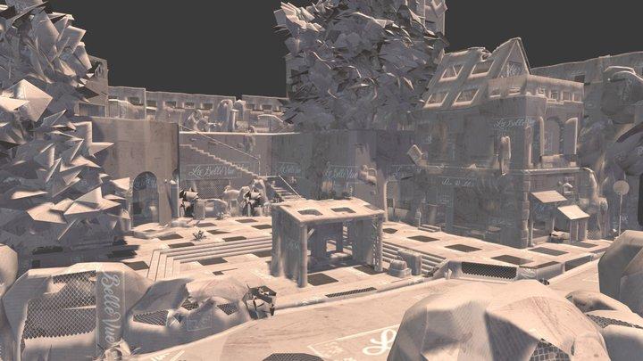The last villager - City scene 3D Model