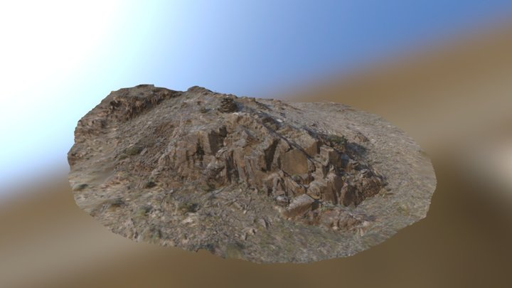 Rock formation on top of amphitheater 3D Model