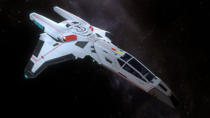 AC-307 Gryphon-class Warp Fighter 3D Model