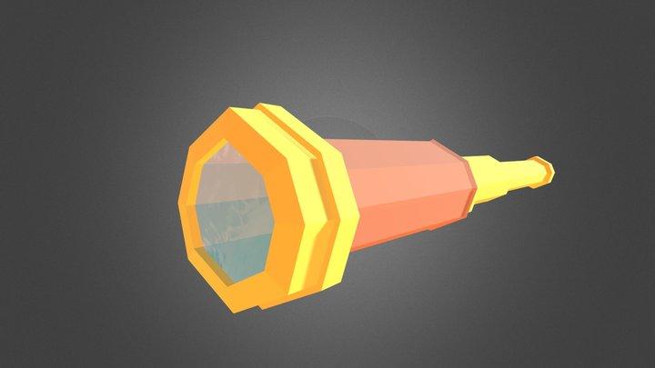 Low poly pirate spyglass (2 parts) 3D Model