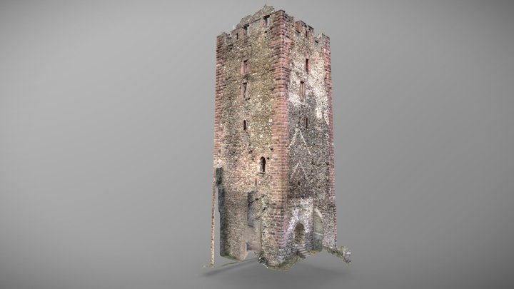 Bergfried der Kastelburg, Waldkirch 3D Model