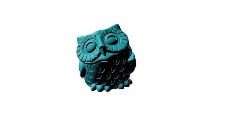 got succulents? Owl Planter 3D Model