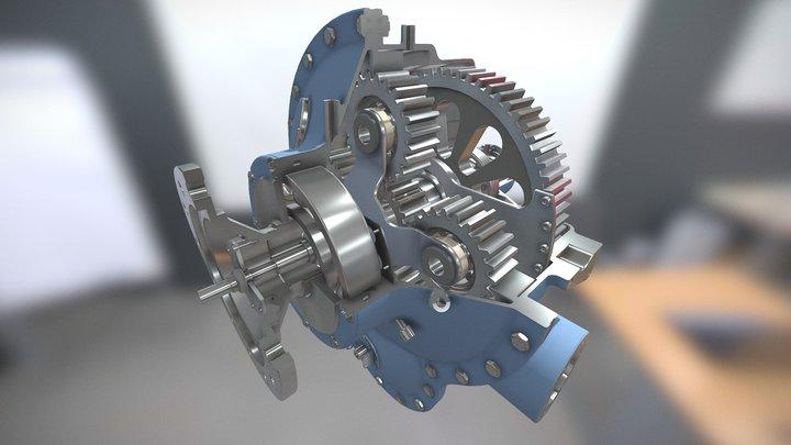 Gearbox (Propeller Turbine) 3D Model