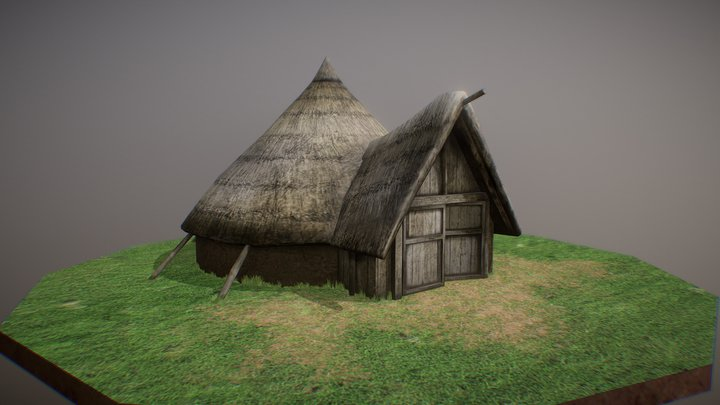 Iron Age Roundhouse 3D Model