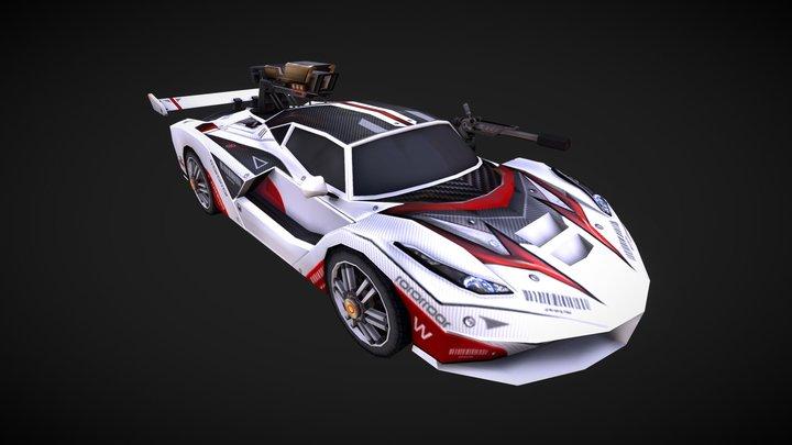 Ferrari PhantomWhite 3D Model