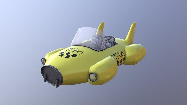 Car Taxi 3D Model
