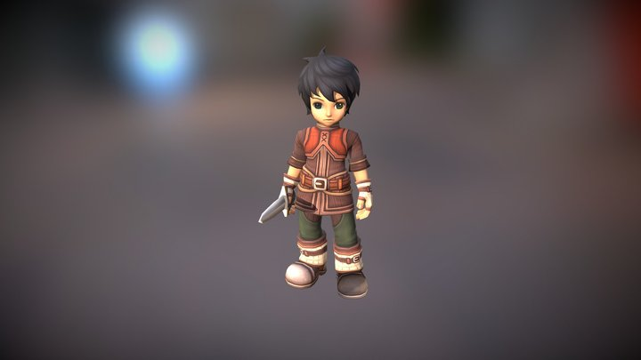 SD Novice Male Character 3D Model