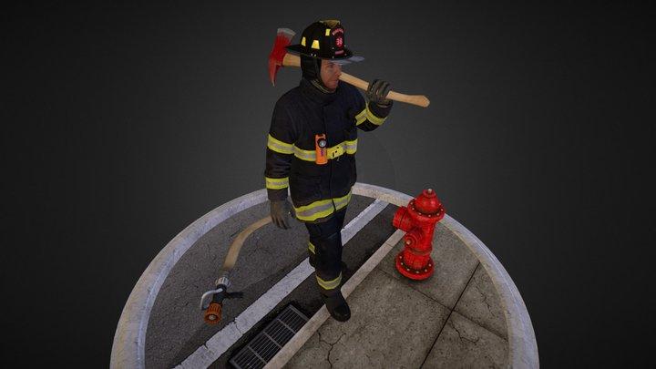 Firefighter-model 3D Model