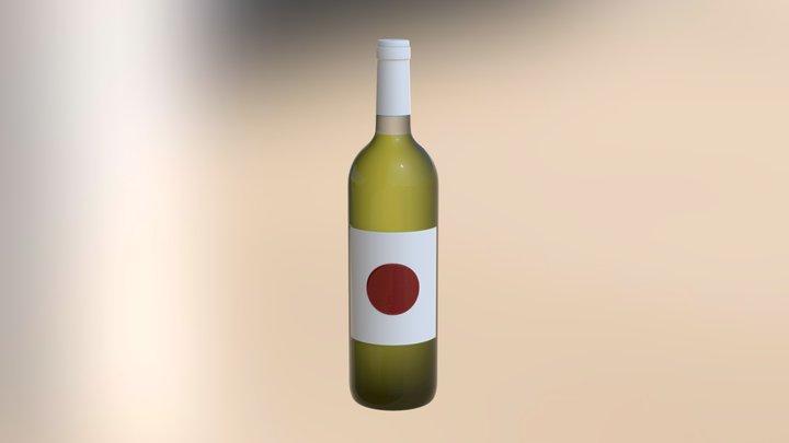 wine bottle test 3D Model