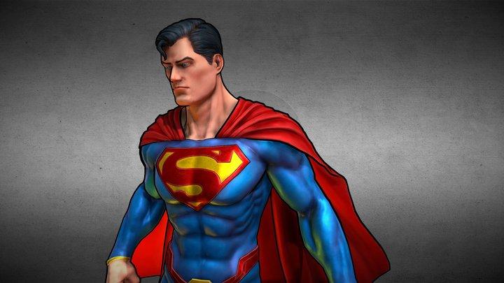Superman Fanart 3D Model