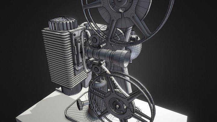 Vintage 1940's 8 MM Revere Model 85 Projector 3D Model