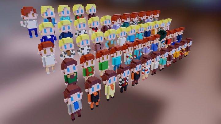 Tracy Bors Plain Clothes 3D Model