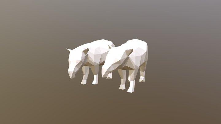 Low Poly Tapirs 3D Model