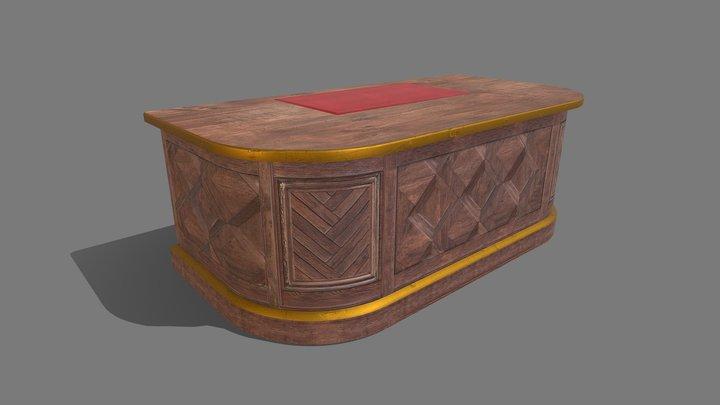 Desk Luxe 3D Model