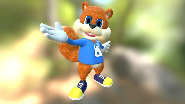 Conker the Squirrel 3D Model
