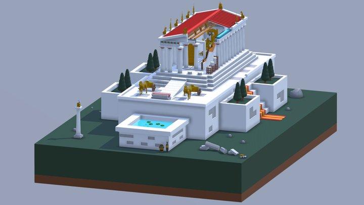 Temple of Olympian Zeus 3D Model