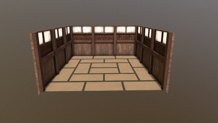 Japanese Traditional Room 3D Model