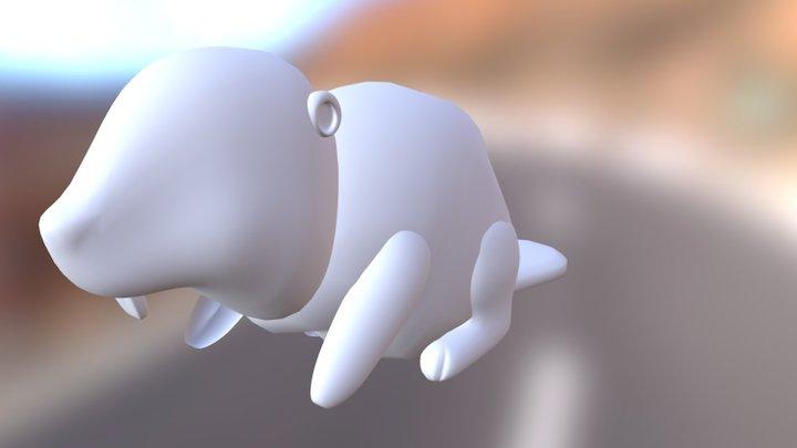 Main Character for Beaver town 3D Model