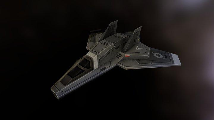 ADDER MK 1 CLASS I STARFIGHTER 3D Model