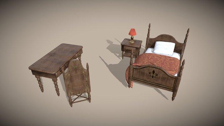 Antique room furniture 3D Model