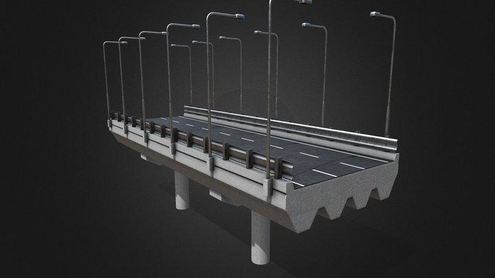 Modular Highway  [Tutorial Included] 3D Model