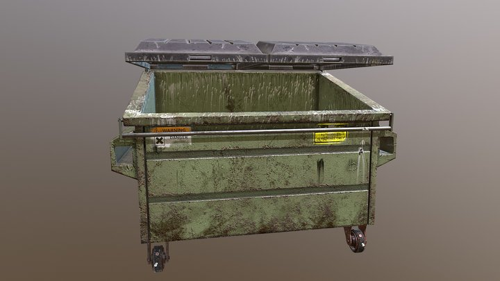 American Dumpster 3D Model