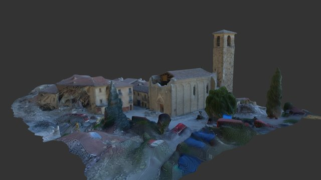 Amatrice St. Agostino, lowest resolution 3D Model