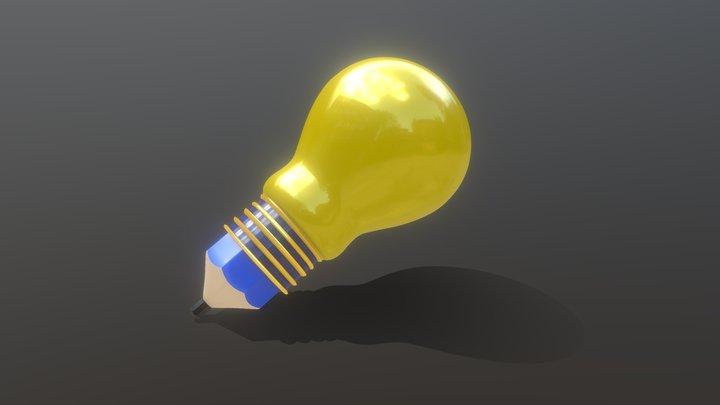 Sketchtoon-Bulb 3D Model