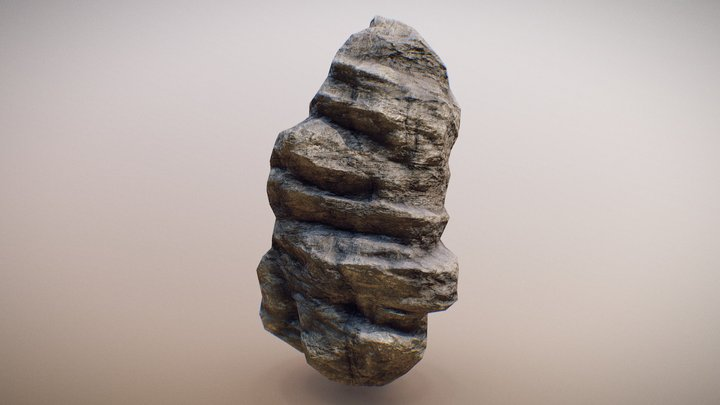 Metamorphic Rock - Game-Ready *UPDATED* 3D Model