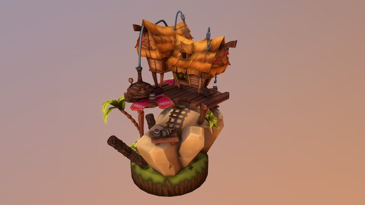 Tiki Lager Brewery 3D Model