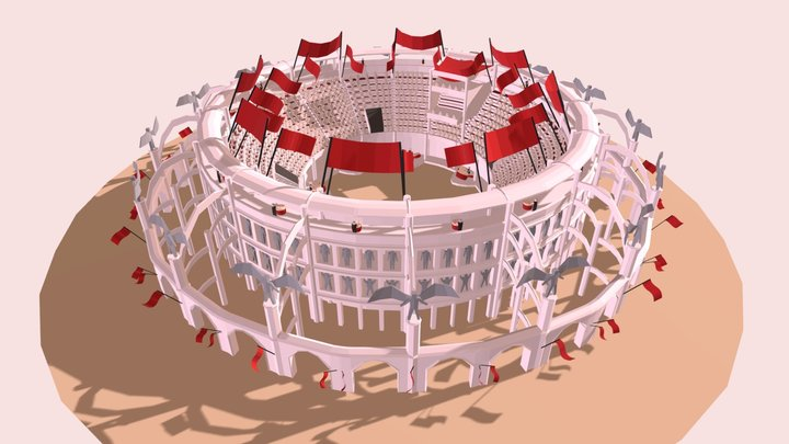 Colosseum wip block 3D Model