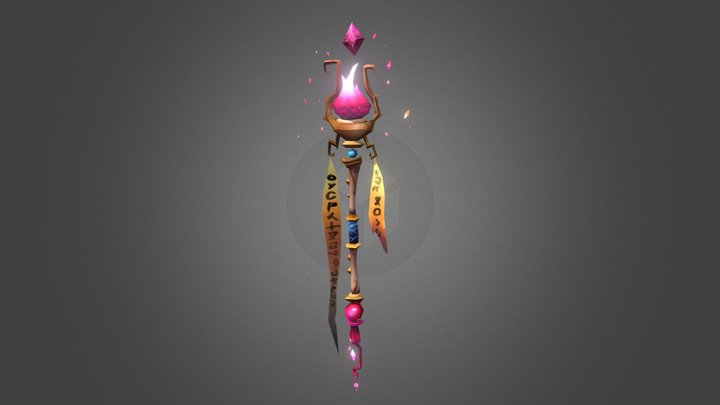 World of Warcraft Weapon - Flame of the Desert 3D Model