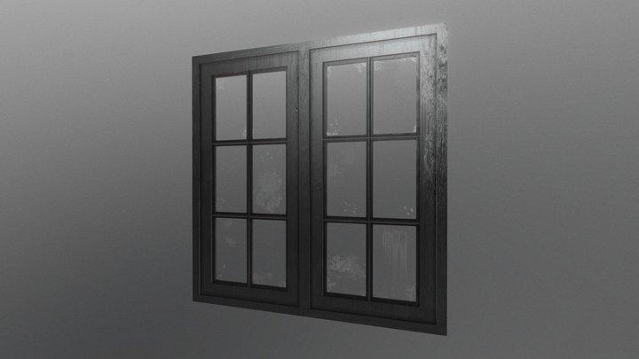 Old wooden window 3D Model